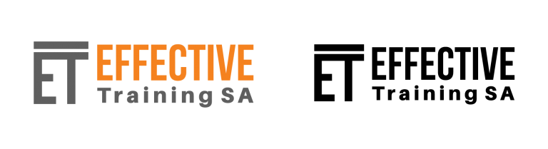 Effective Training logo, colour and black